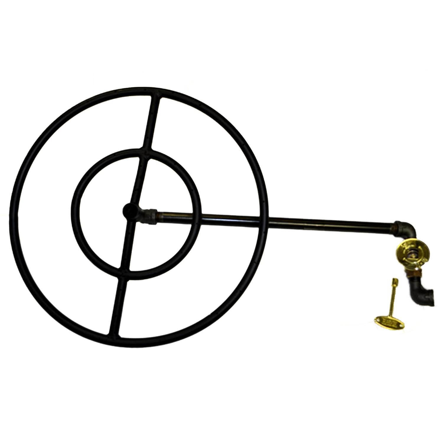 Hpc 30 Inch Natural Gas Fire Pit Kit With Round Black Steel Ring Burner Match Light Gas Fire Pit Kit Natural Gas Fire Pit Gas Fire Pit Insert