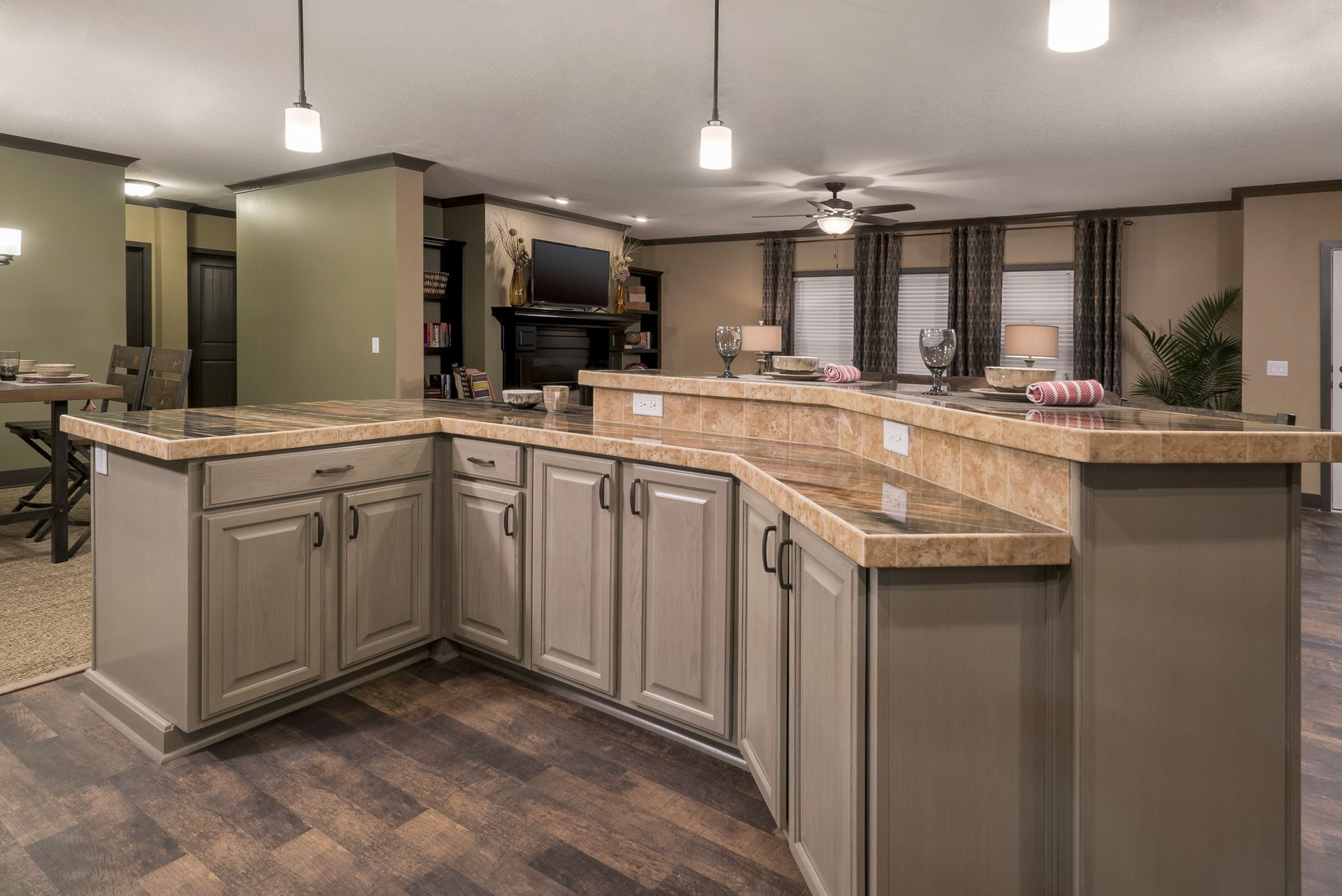 Raised Panel Tan Cabinets are offered by Franklin Homes ...