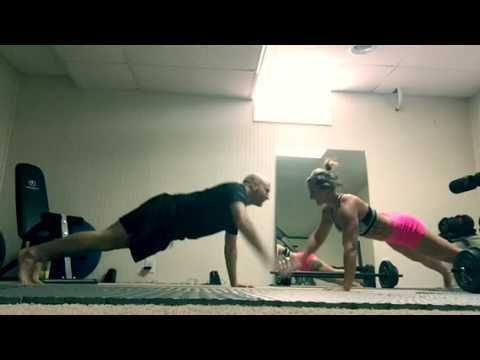 couple's fitness challenge workout from home