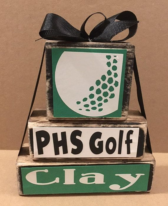 Genial Golf Block Set, Golf Gift, Golf Decor, School Spirit, Room Decor,