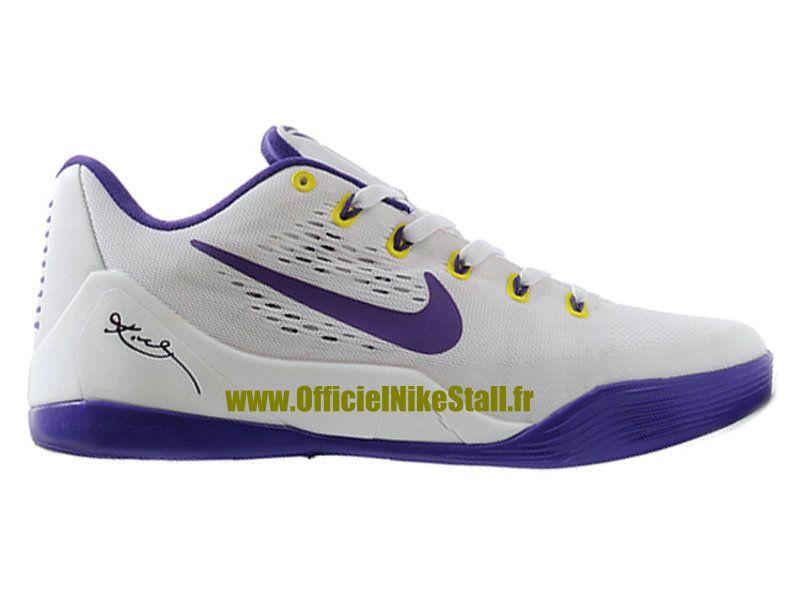 on sale 815f2 04664 Nike Kobe 9 IX Low EM iD - Chaussures de Baskets Pas Cher Pour Homme Noir  Violet-Jaune 653972-iD4