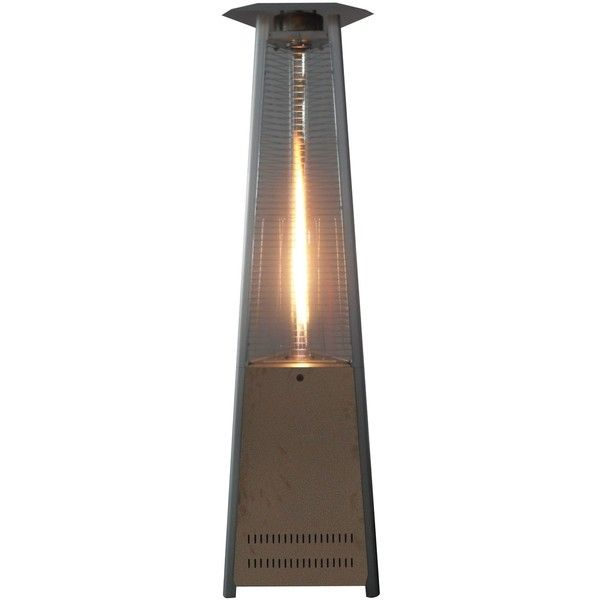 Triangle Shape Dancing Flame Outdoor Glass Tube Propane Patio Heater ($350)  ❤ Liked On