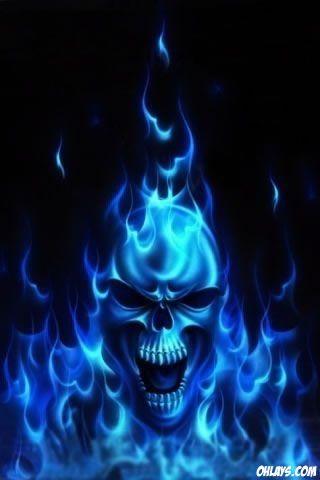 Blue Skull Iphone Wallpaper Skull Artwork Skull Painting Blue Skulls