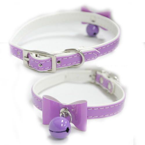 Dog/Cat Collar - love the bell and bow!
