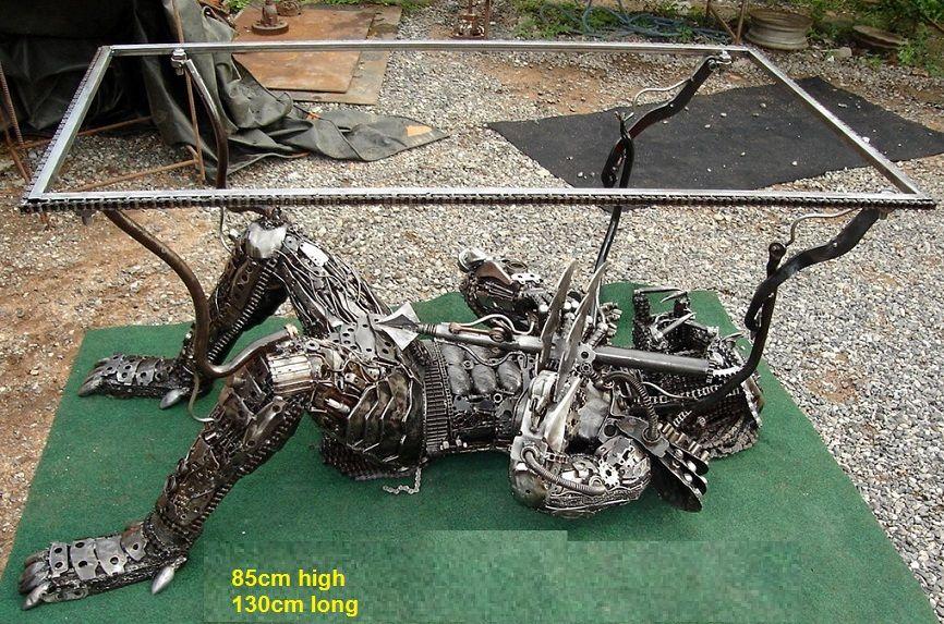 Predator Table Life Size Furniture Art For Sale Glass Resins Wood Pinterest Scrap Metal