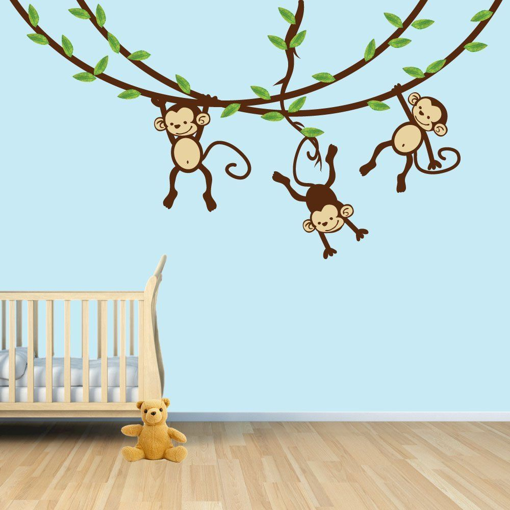 Monkey Wall Decal For Baby Nursery