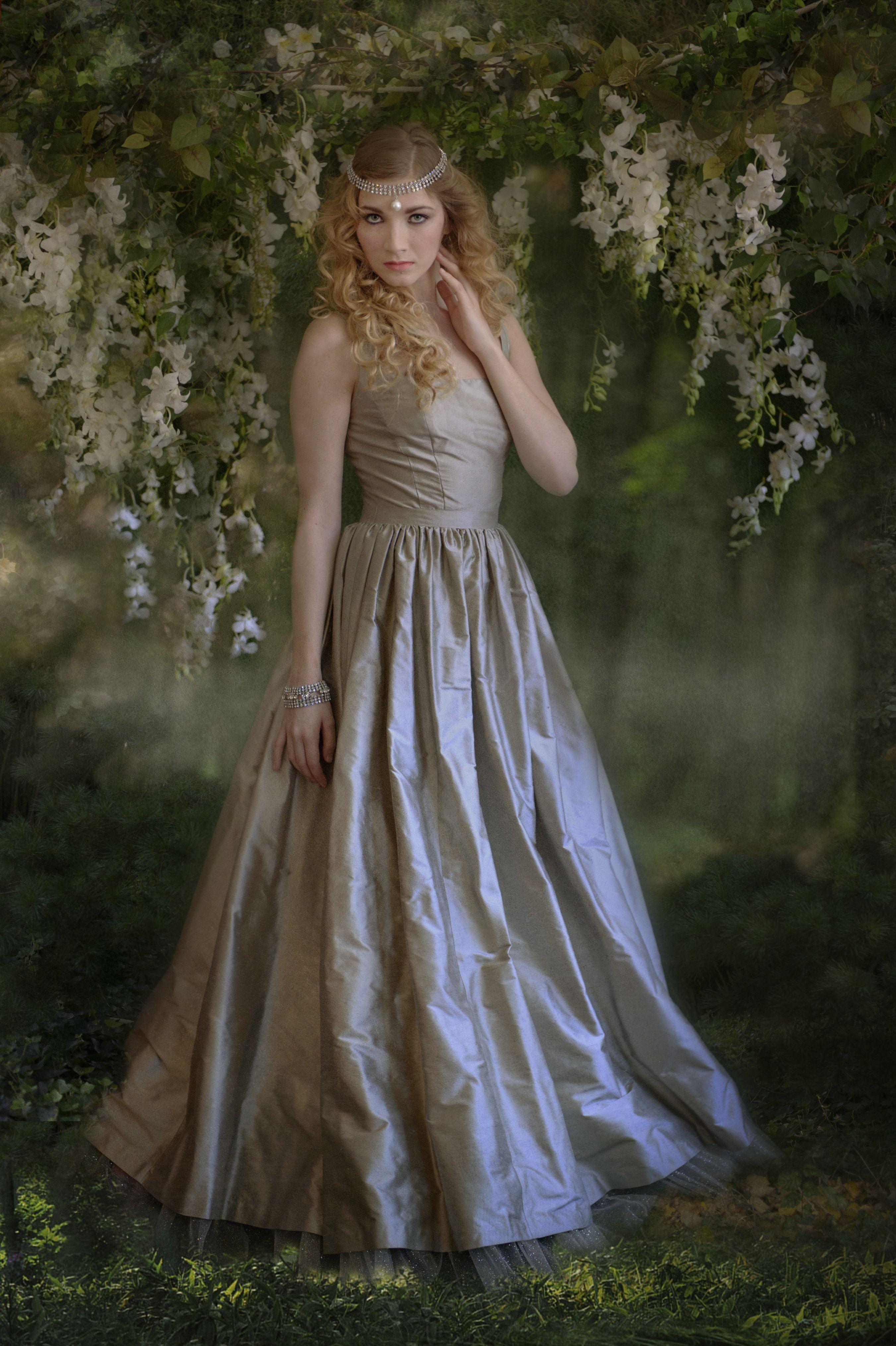 Wedding dresses brooklyn  Silver shantung