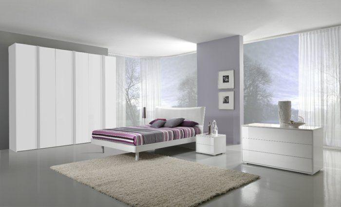 einrichtungsideen schlafzimmer weißes bett doppelbett weiß - luxus schlafzimmer design