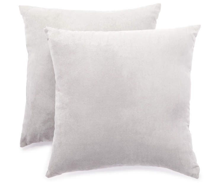 Gray Throw Pillows 2 Pack 17 X 17 At Big Lots Condo