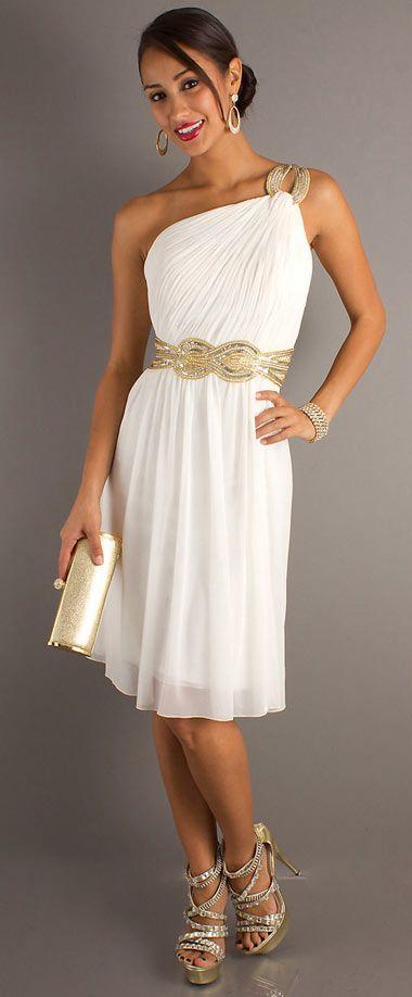 Robe blanche soiree chic