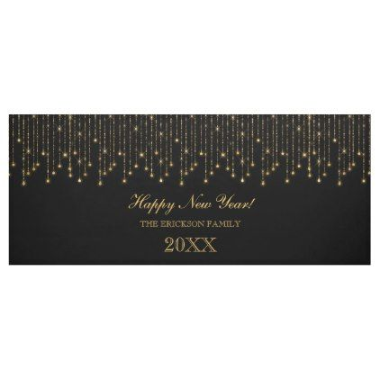 happy new year gold and black string lights banner new years eve happy new year holiday diy party