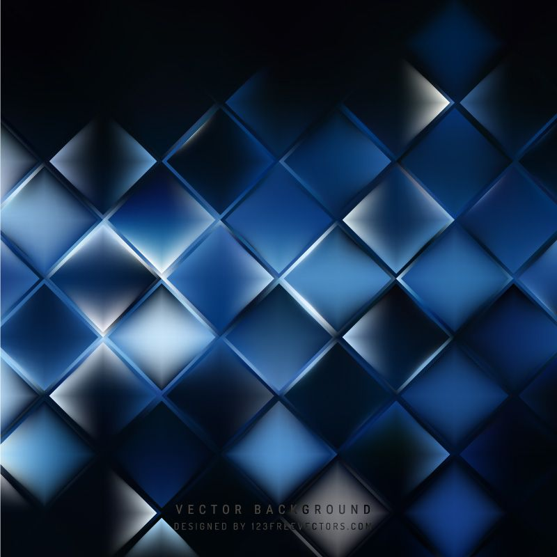 Abstract Blue Black Square Background Pattern In 2020 Background
