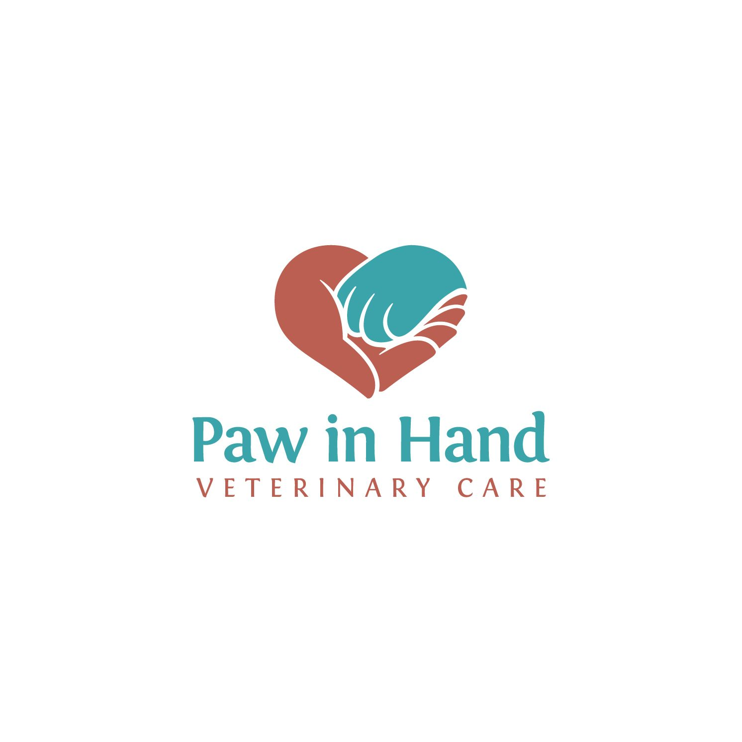 Love Heart Shape Combined With Pet Cat Hand And Human Hand Design 75 By Danoveight Small Vet Clinic Needs A L Pet Logo Design Dog Logo Design Hand Logo