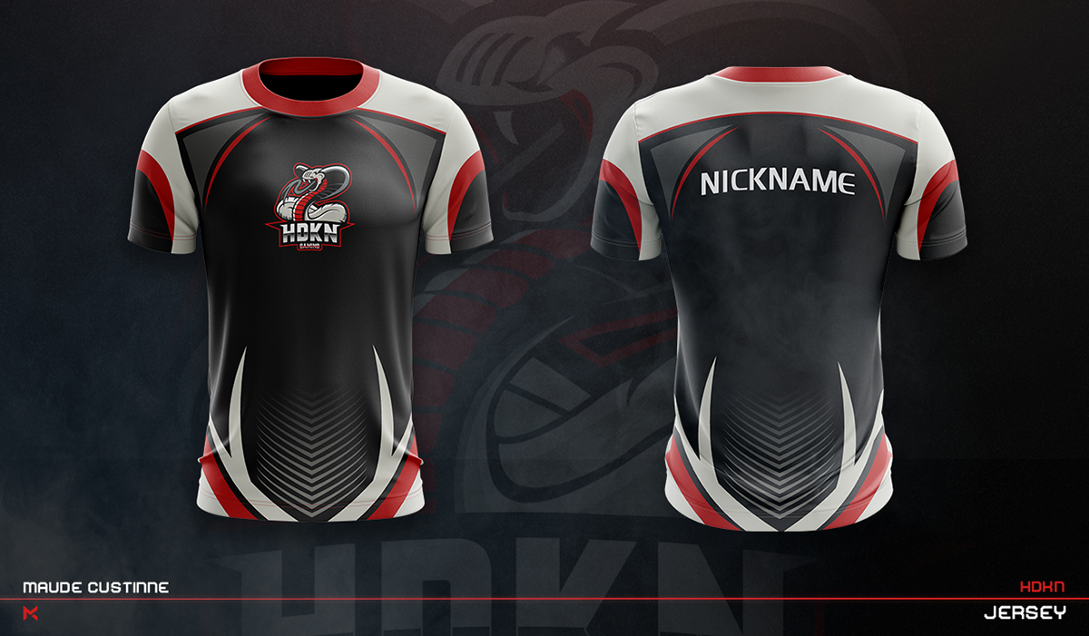 Download Jersey Esport Team Mockup On Behance Sport Shirt Design Sports Jersey Design Jersey Design