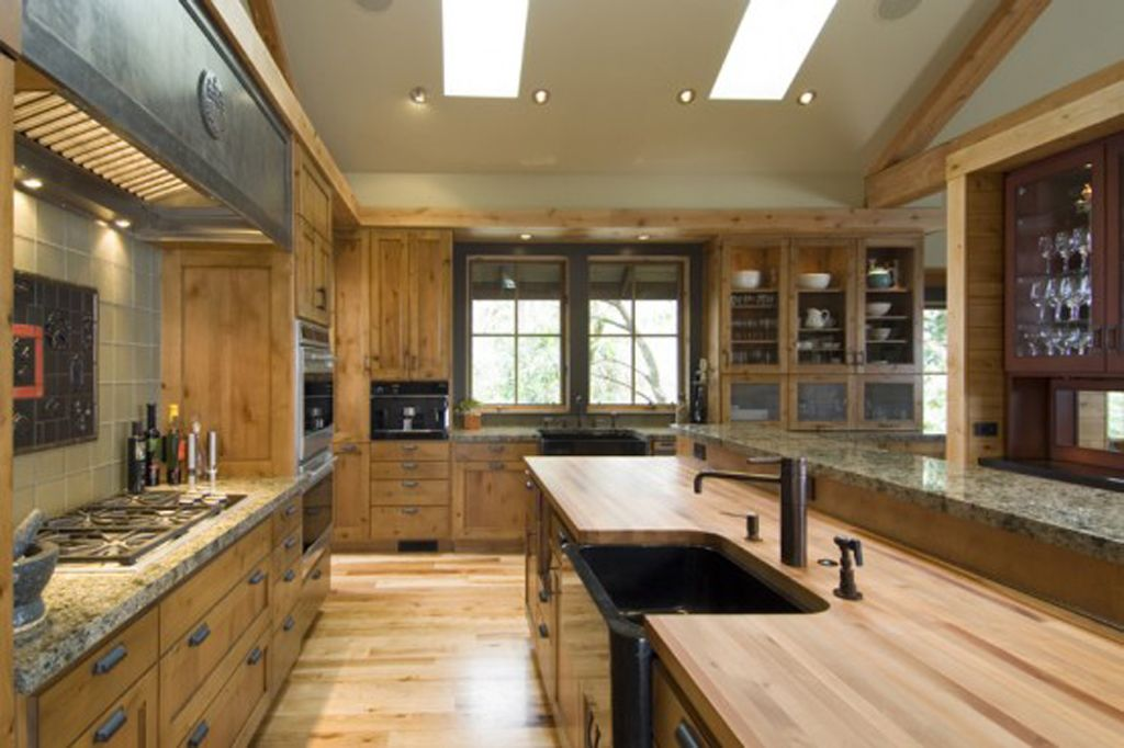 Rustic Style Kitchen Cabinets  Countertops Pinterest Wood