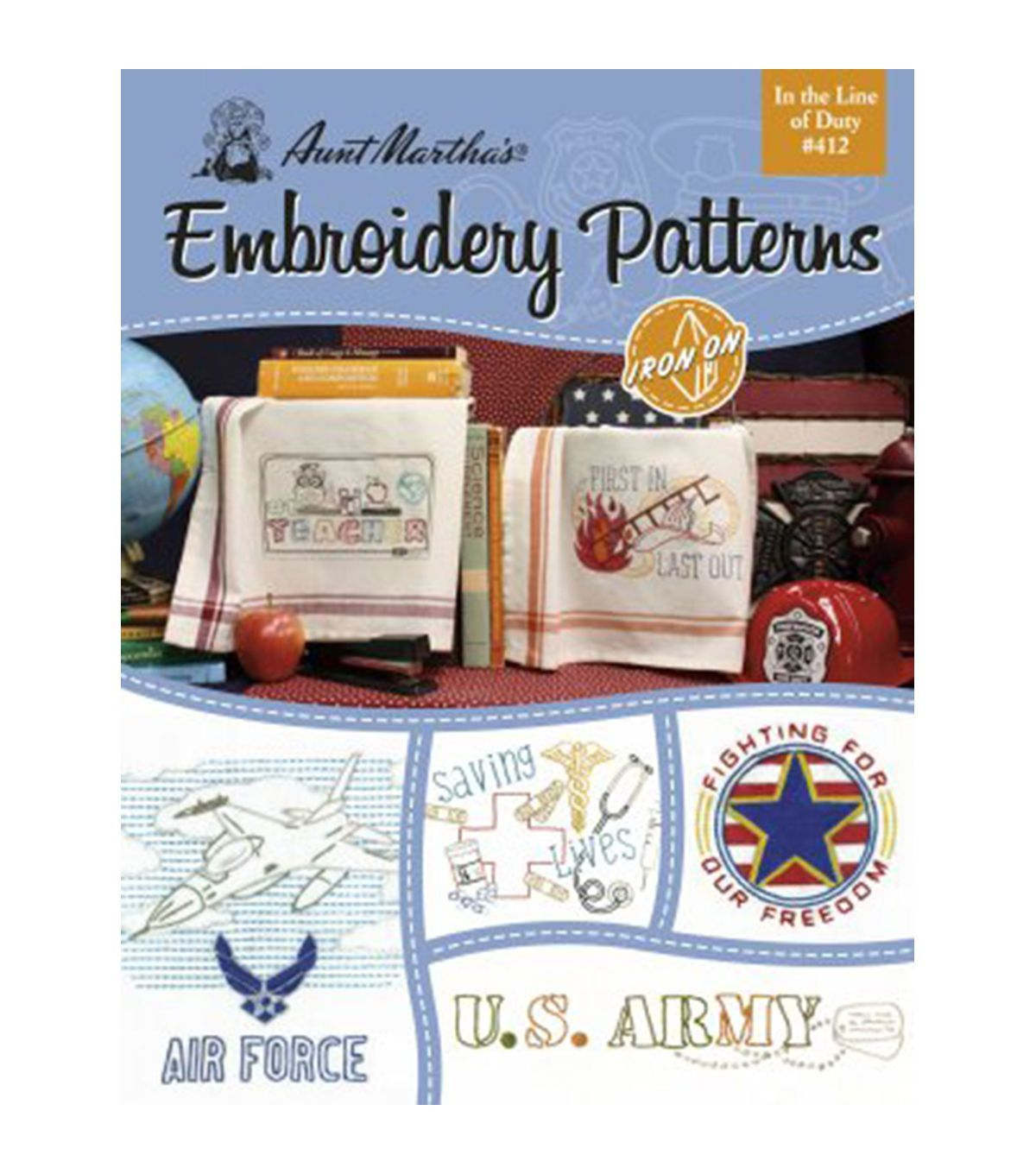 Aunt marthas in the line of duty embroidery patterns book aunt marthas in the line of duty embroidery patterns book bankloansurffo Image collections