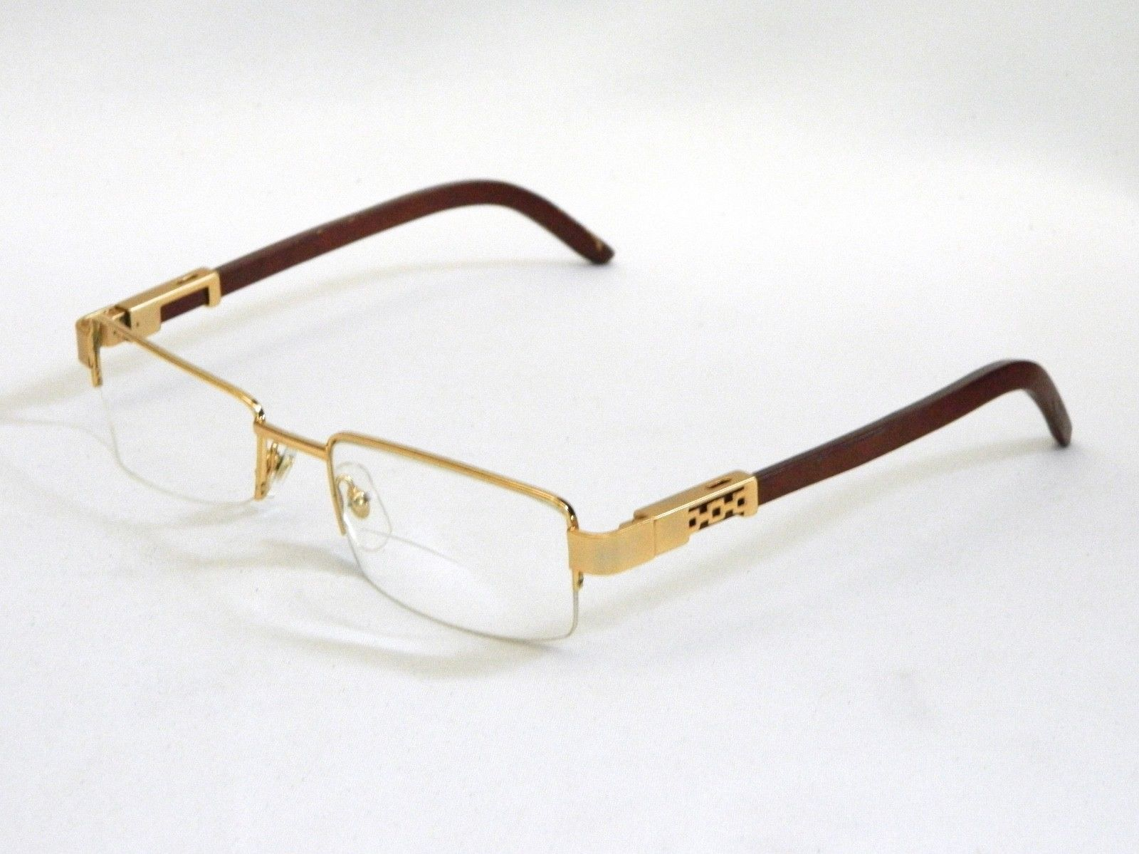 1bf4fa224bc Cartier Gold Wood Eyeglass Frames Wooden Frames for Eyeglasses Sunglasses  Vtg( )