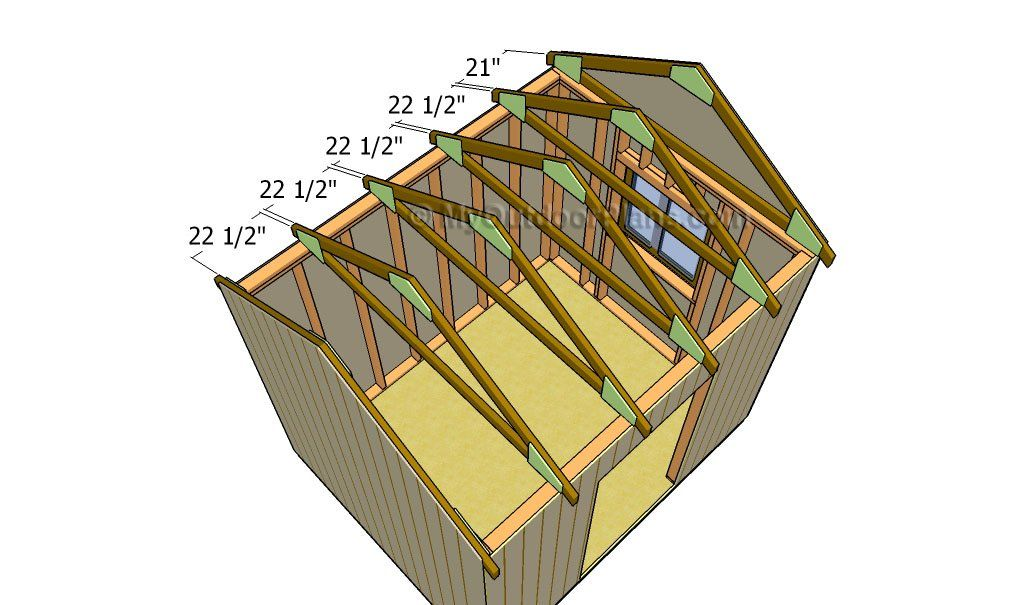 Fitting the trusses in 2020 Diy shed, Diy shed kits