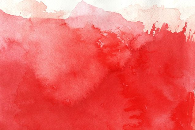 Red Watercolor Valentines Watercolor Watercolor Red Coral