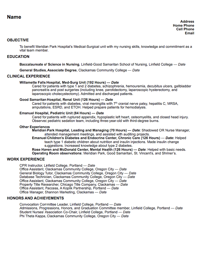 Med Surg Resume Sample  HttpExampleresumecvOrgMedSurg