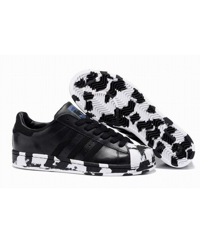 cd579c6b73 Unisex Adidas Superstar Marble Black Pride Pack Shoes Showing the  characteristics of Adidas fashion