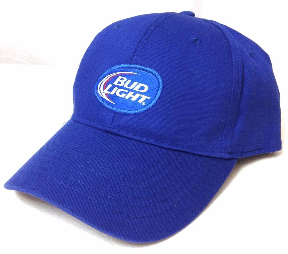 BUD LIGHT BEER HAT Blue/White Curved Bill Men/Women Adjustable Ball Cap