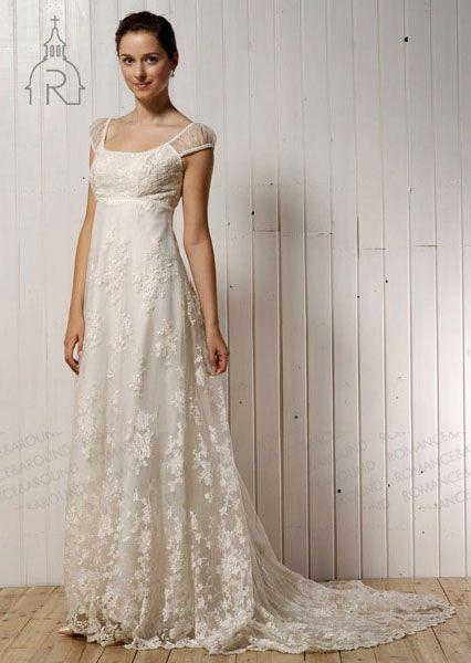 Vintage Couture Wedding Dress Empire Waist