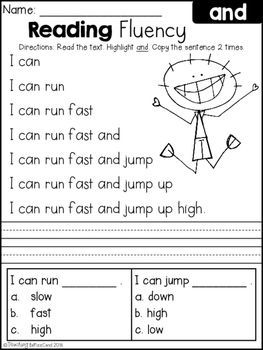 Worksheet Reading Comprehension Worksheets For Grade 1 free reading fluency and comprehension set 1 education 1