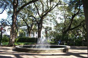 Square in Savannah, GA