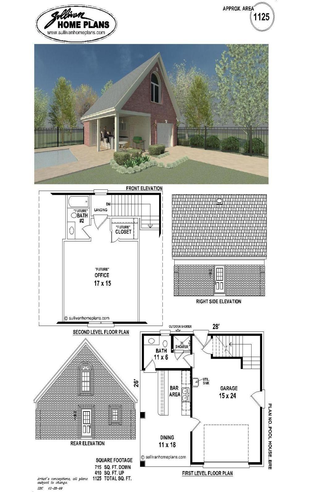 B1 1125 P Pool House Pool House Plans Pool Houses Pool House
