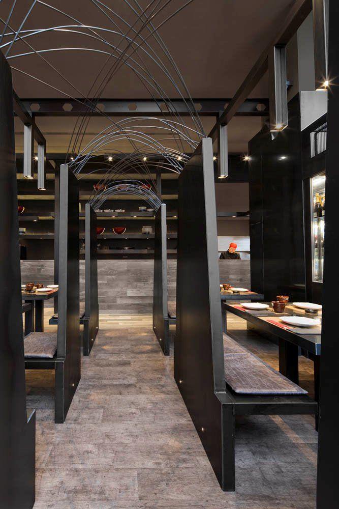 Estudi josep cortina has designed the umo japanese restaurant as part of hotel catalonia in - Restaurant umo barcelona ...