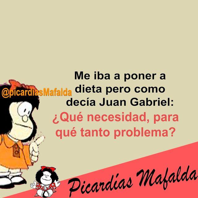 Mundo De Postales Me Iba A Poner A Dieta Pero Mafalda