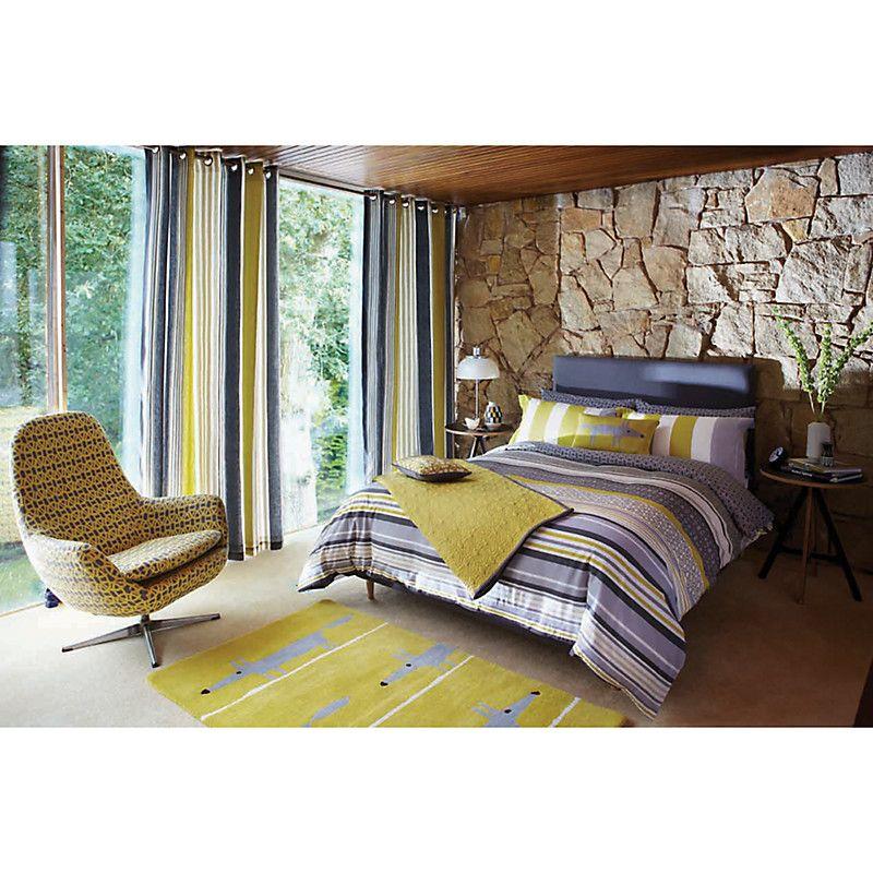 Buy Scion Lace Stripe Duvet Cover And Pillowcase Set