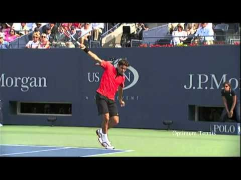 The Preparation Of The Federer Backhand Is An Important Part Of The One Handed Backhand Technique Roger Federer Prepares For Roger Federer Core Muscles Muscle