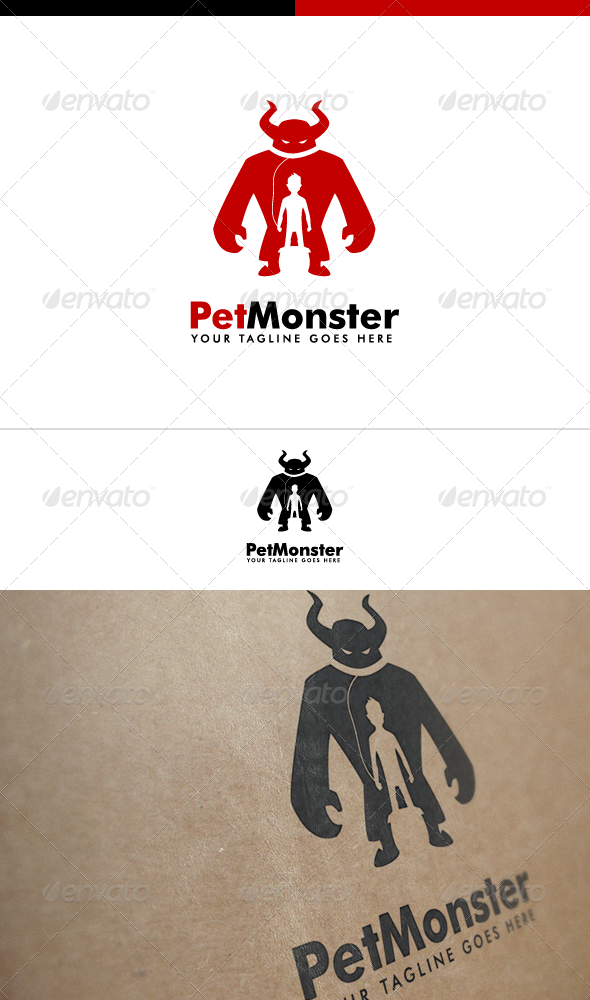 Pet Monster  Monster Logo Template  Logo Templates Template And