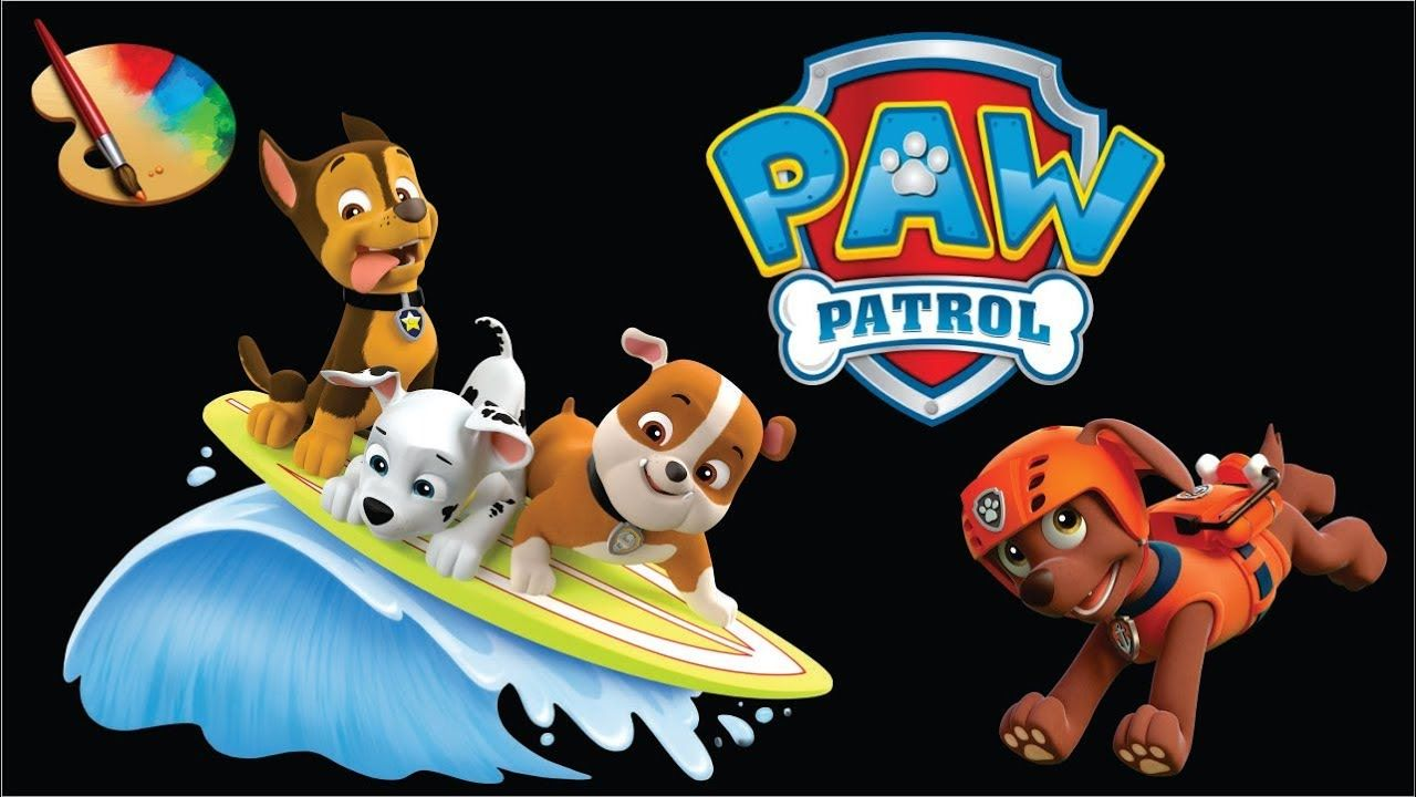 Paw Patrol Coloring Page Coloring Ryder Marshall Chase