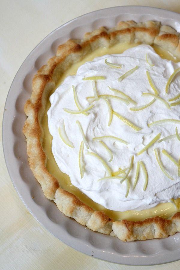 Lemon Sour Cream Pie Recipe Lemon Sour Cream Pie Sour Cream Lemon Pie Recipe Cream Pie