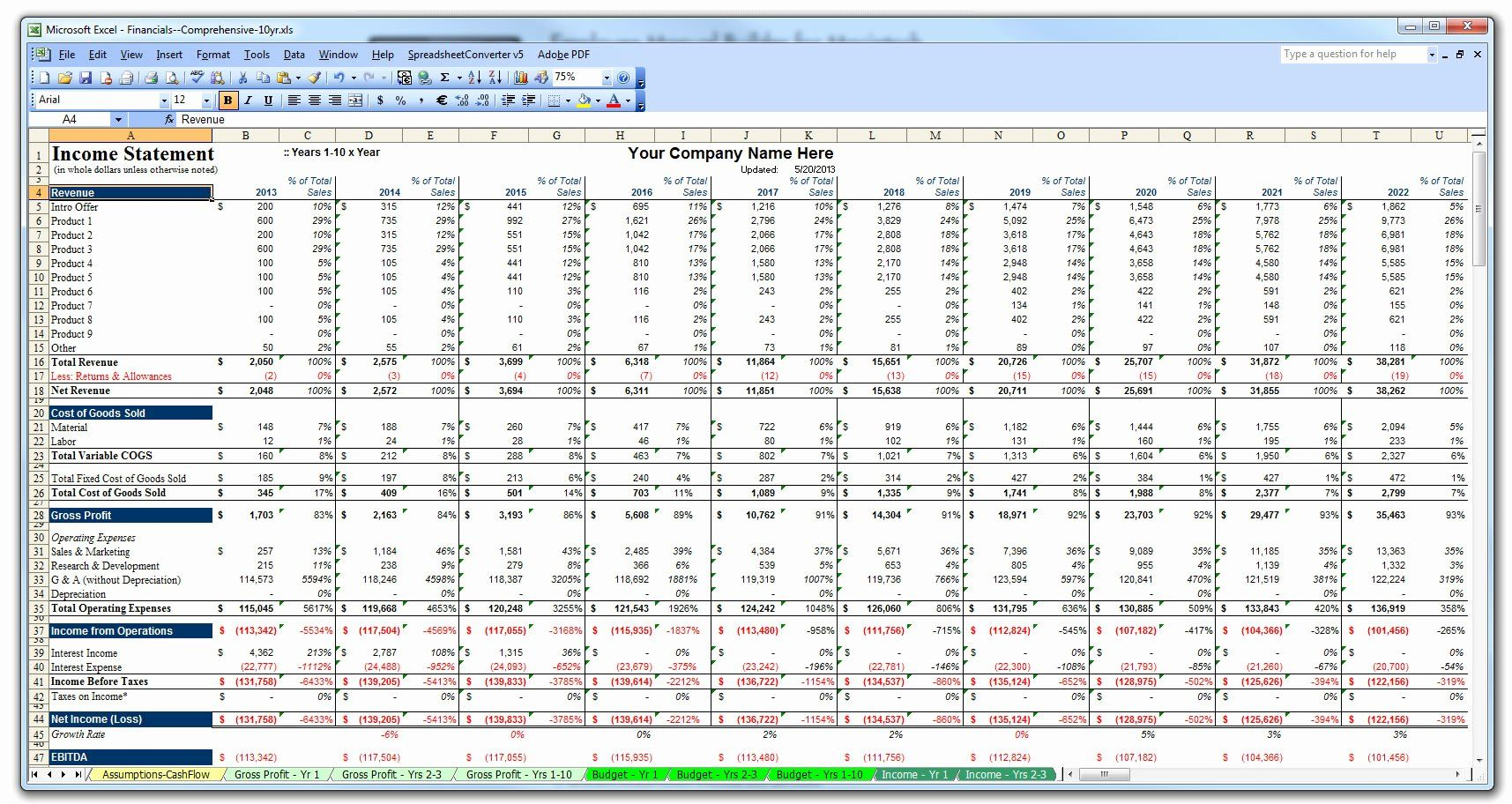 Business Plan Template Excel Elegant Business Plan