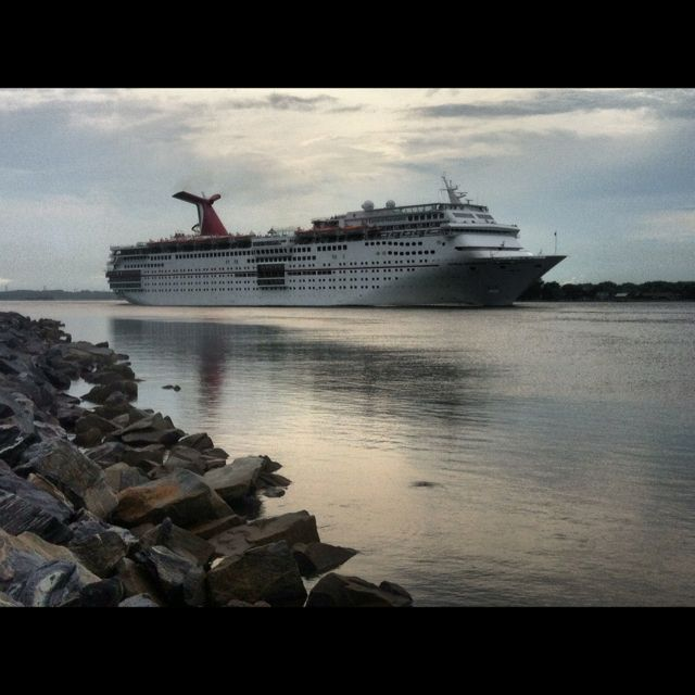 Carnival Faacination Leaving Jacksonville Passing The Little - Jacksonville cruises
