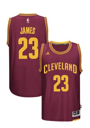 c7a5a2ad7 LeBron James Adidas Cleveland Cavaliers Mens Maroon Swingman Basketball  Jersey