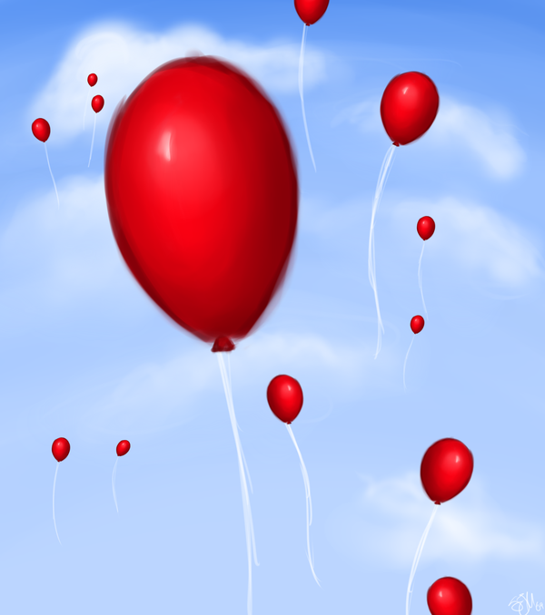 99 Red Balloons By Xxfangirlkillerxx On Deviantart Red Balloon Balloons Red