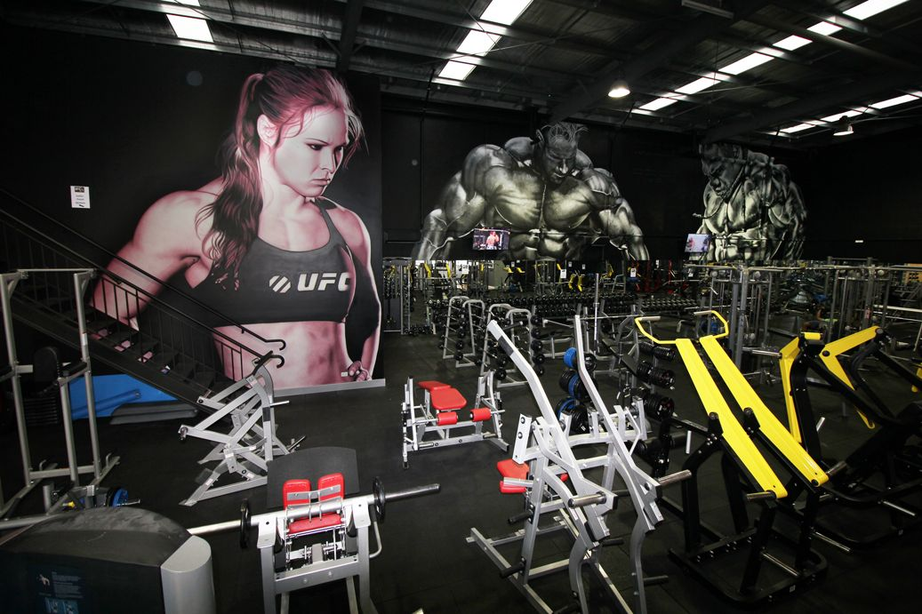 Spray Can And Airbrush Murals For Motivation And Inspiration Ronda Rousey Jay Cutler And Kai Greene Epic Art Design Airbrush Airb Gimnasio Casitas Eslogan