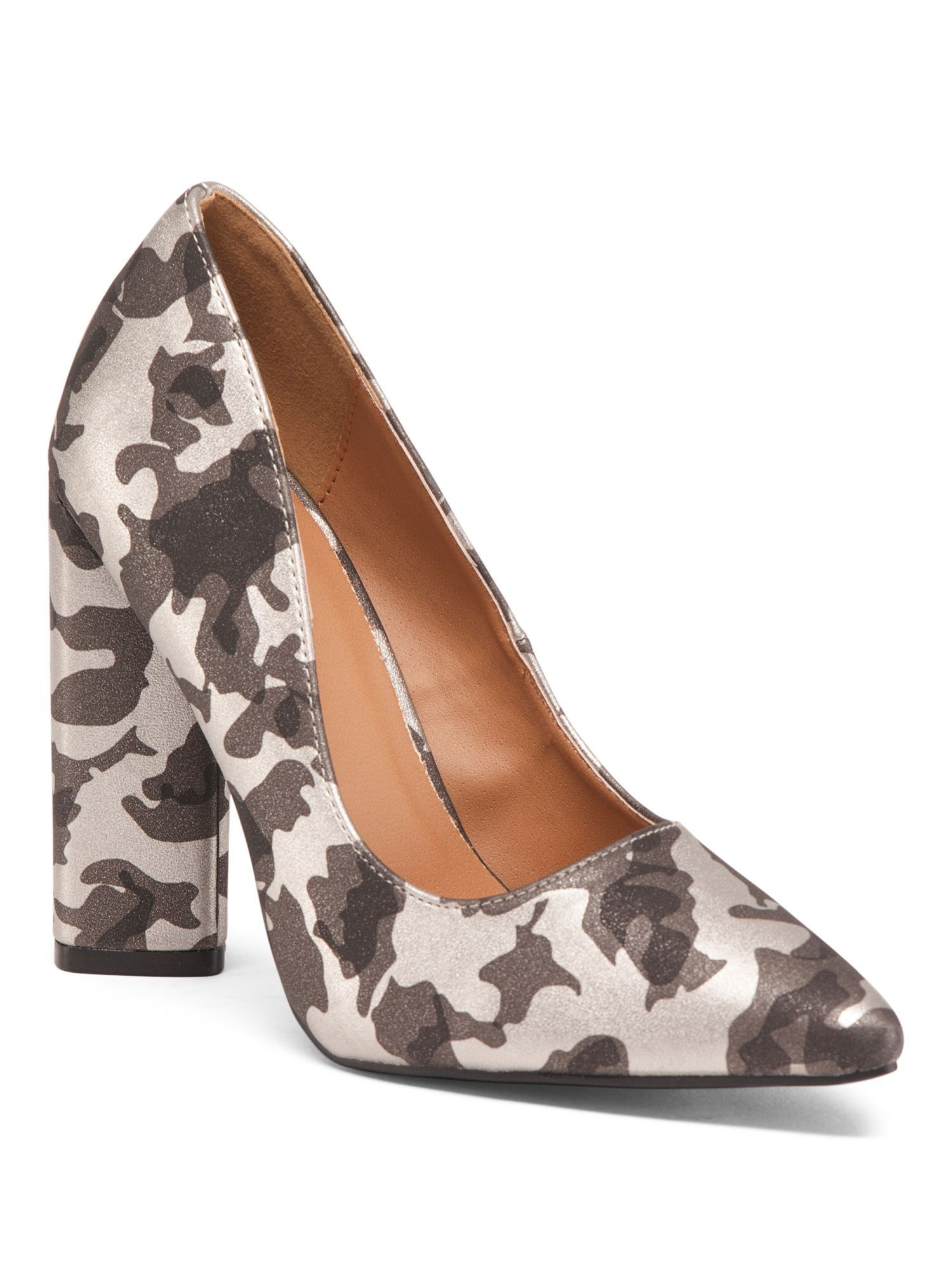 de103f51bf Block Heel Camo Pumps | Products | Block heels, Heels, Shoes