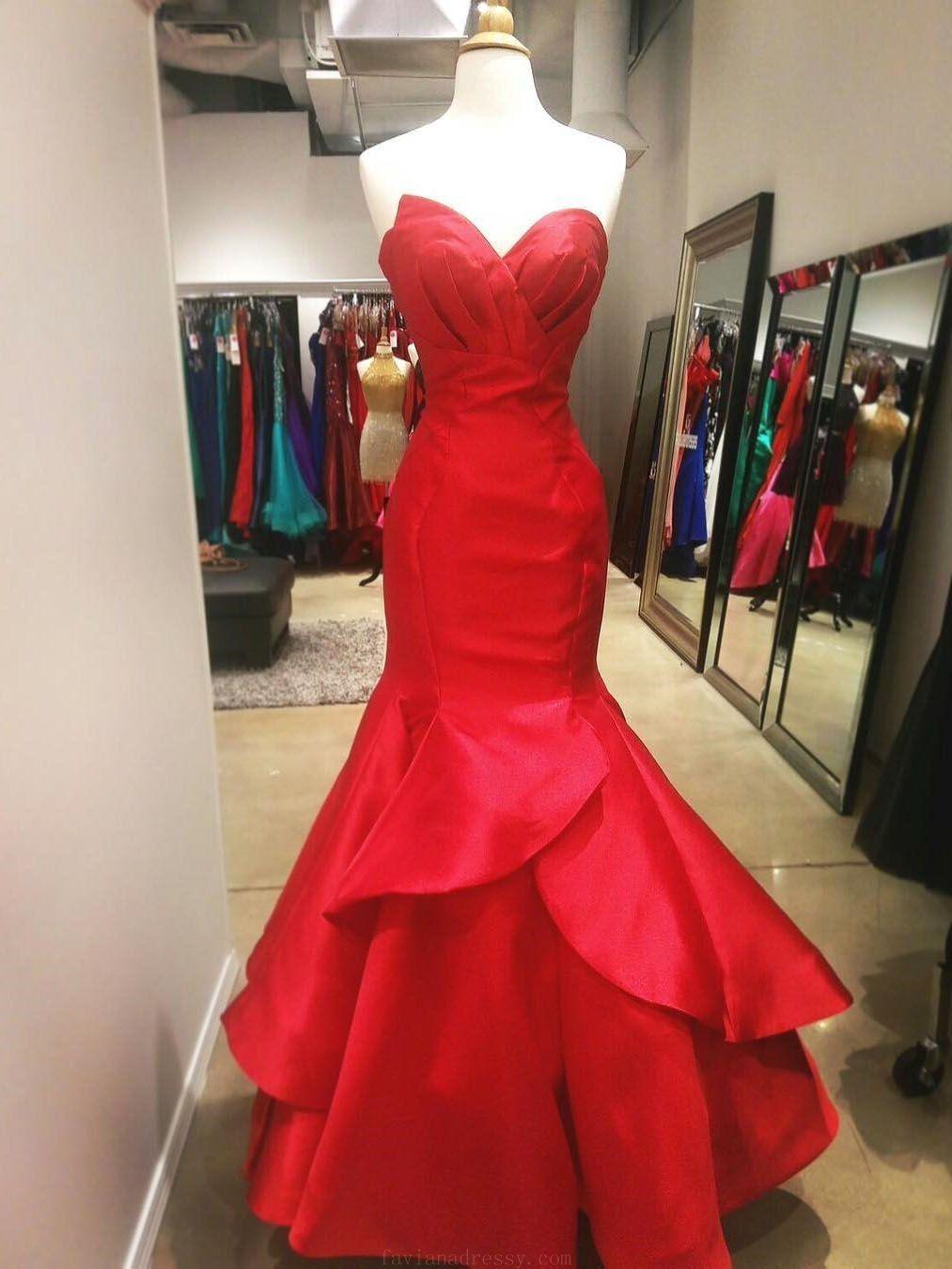 Prom dress red prom dress prom dresses long red mermaid