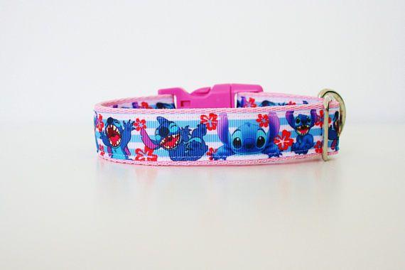 Pink Stitch Lilo Disney Dog Collar Or Matching Lead Leash Seat