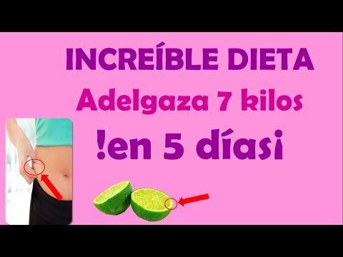 Como adelgazar 7 kilos en 5dias