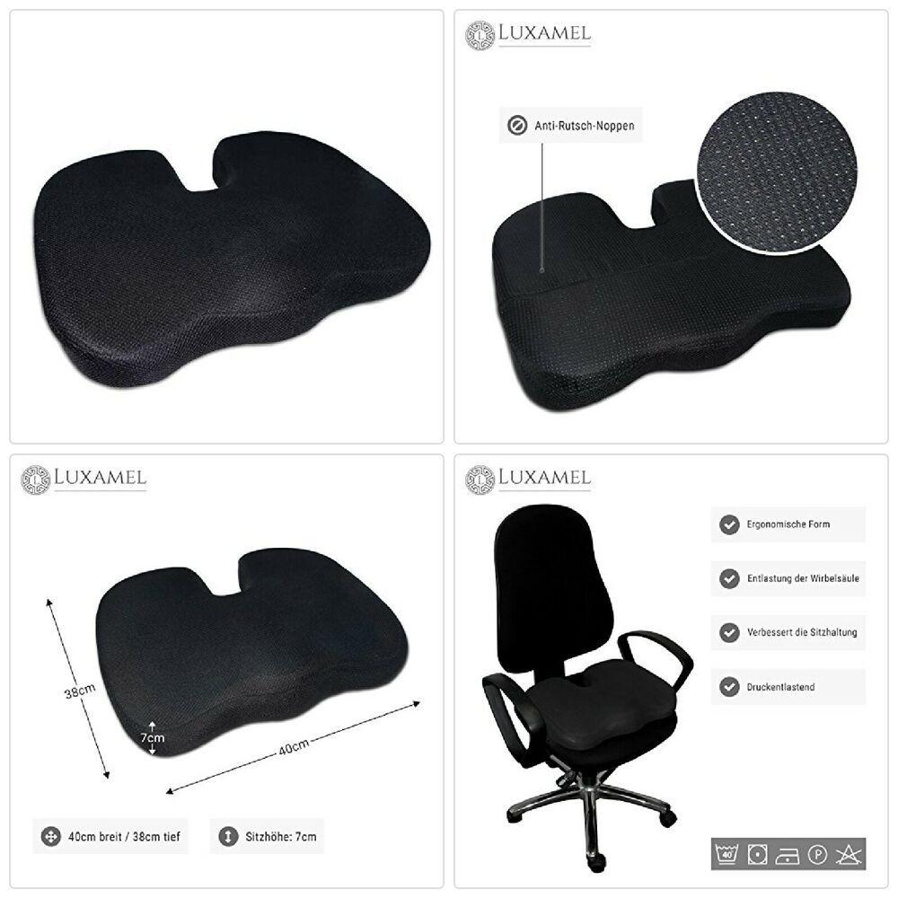 Luxamel Orthopadisches Sitzkissen Ergonomisches Sitzauflage Fur