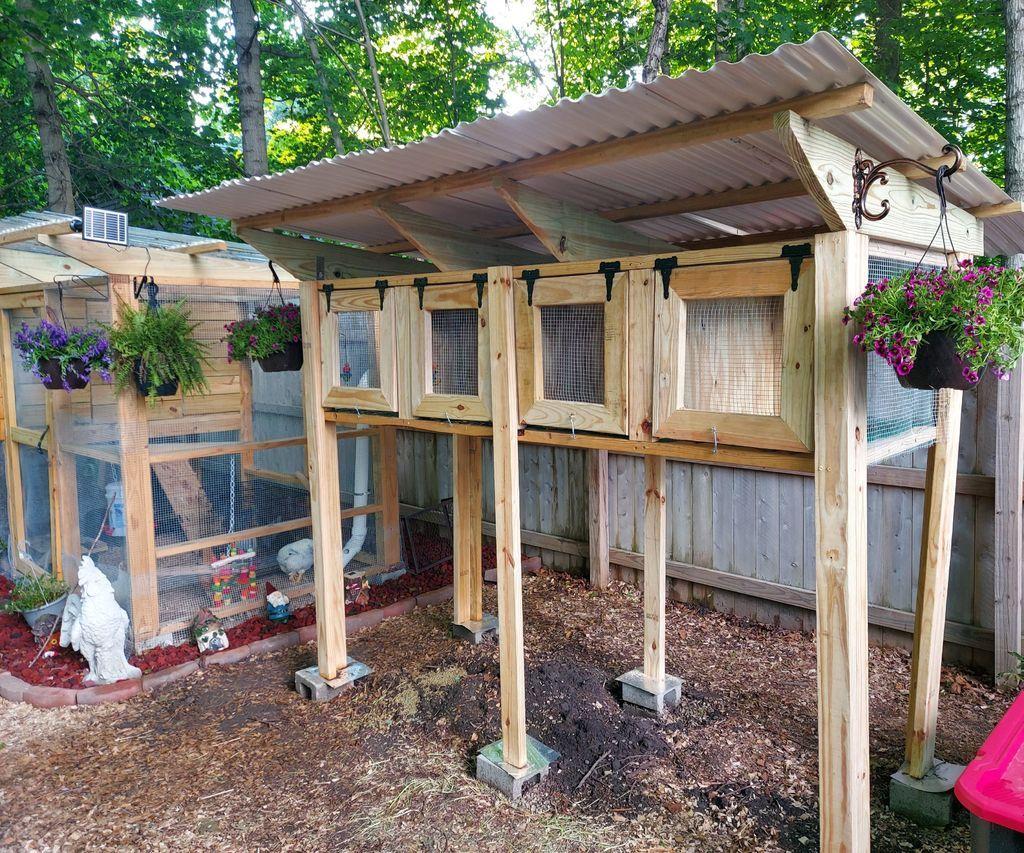 The Backyard Rabbit Or Quail Coop Quail Coop Diy Garden Bed Quail Diy backyard quail coop