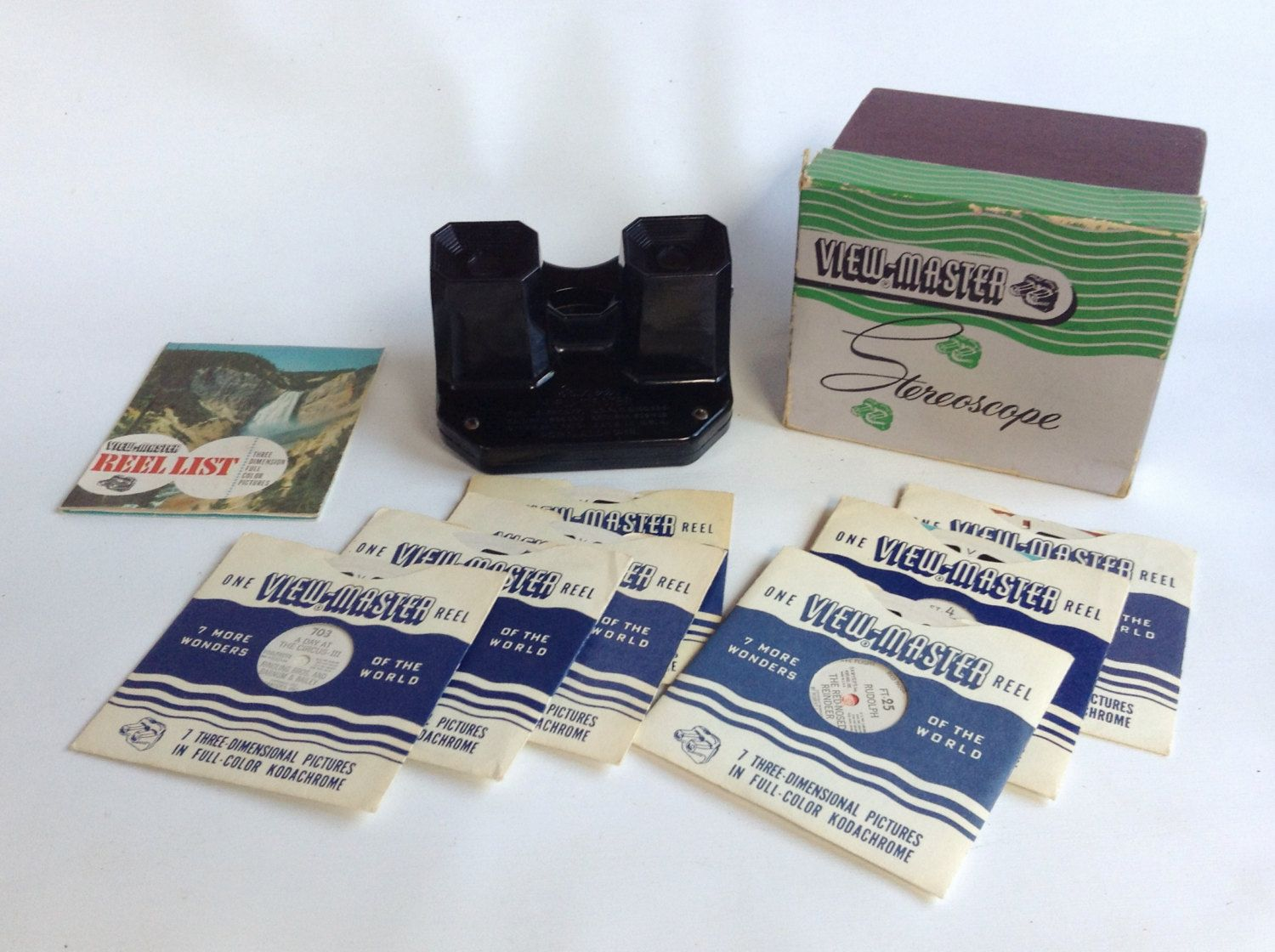 Vintage Sawyer's View Master Model C Stereoscope w/7 Picture Reels by ThoughtfulVintage on Etsy