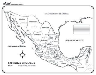 Pin De Daniela Fuentes En Geografia Republica Mexicana Con Nombres Mapa Mexico Con Nombres Republica Mexicana